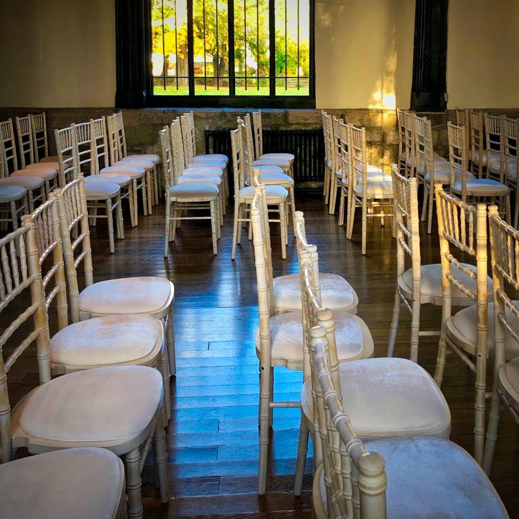 Empty Chairs in Samlesbury Hall ©HelenBushe